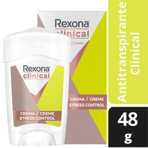 Clinical Desodorante Femenino Stress Control Crema Barra 48 grs