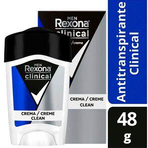 Clinical Desodorante Masculino Clean Crema En Barra 48 grs