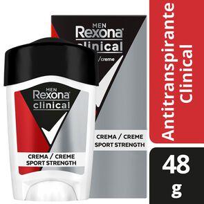 Clinical Desodorante Masculino Sport Strength Crema Barra 48 grs
