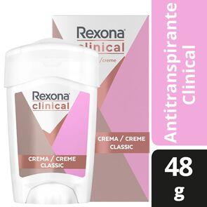 Clinical Desodorante Femenino Classic Crema En Barra 48 grs