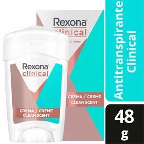 Clinical Desodorante Femenino Clean Scent Crema En Barra 48 grs